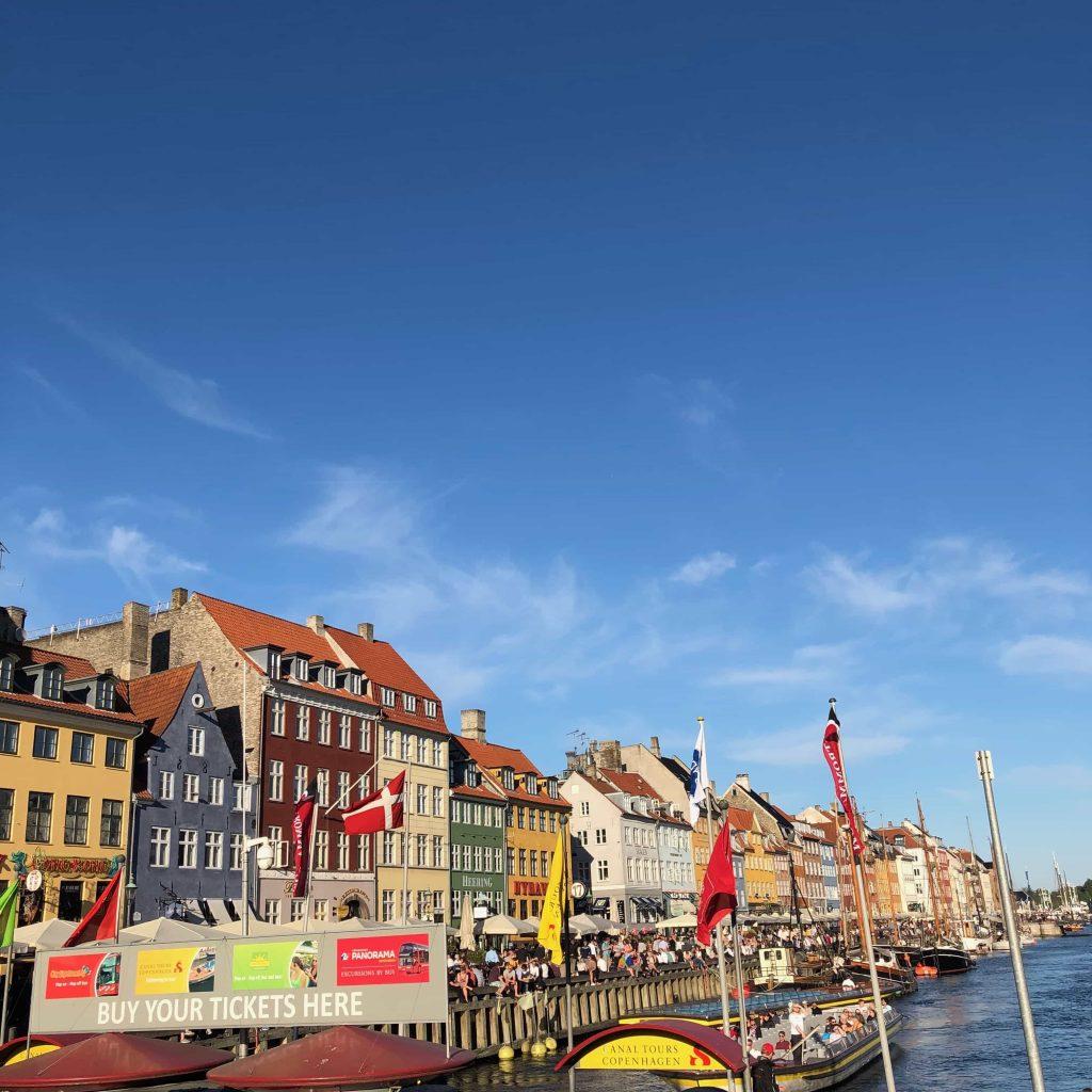 Nyhavn in Copenhagen in Summer