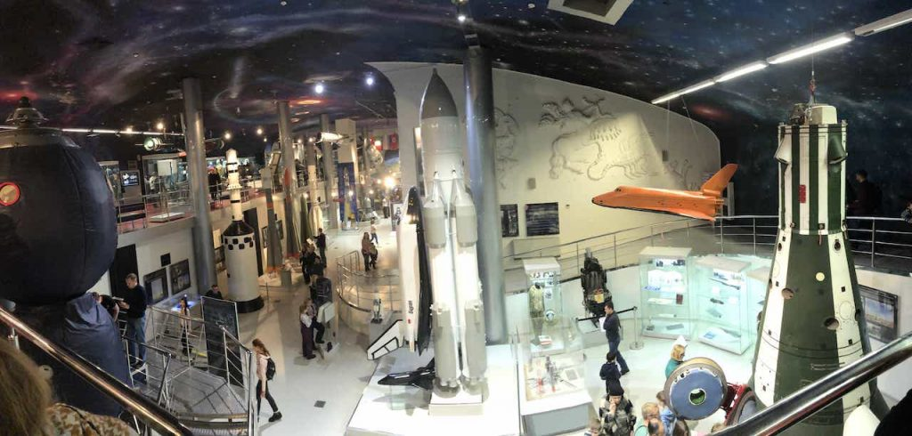 model space ships at Museum of Cosmonautics Moscow