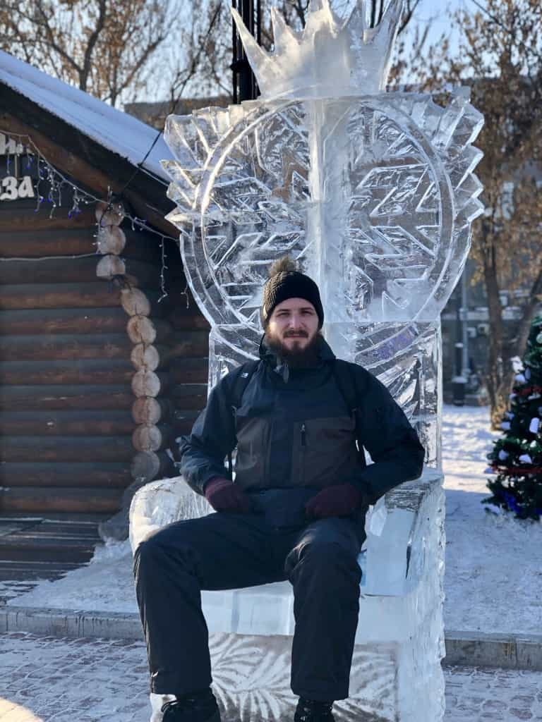 ice throne Kirov Square - Irkutsk