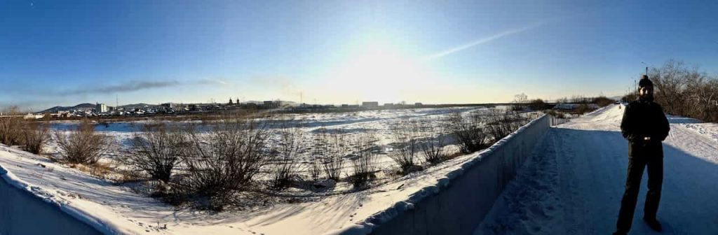 Uda Rive frozen over in Ulan-Ude