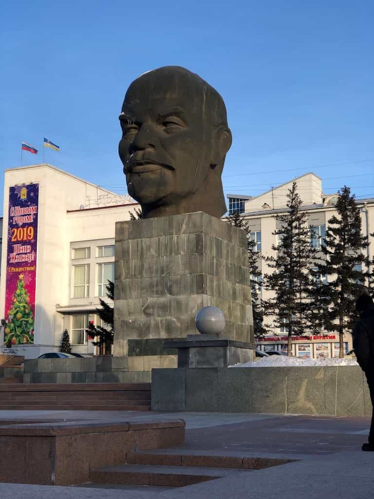 one day ulan ude itinerary lenin head statue