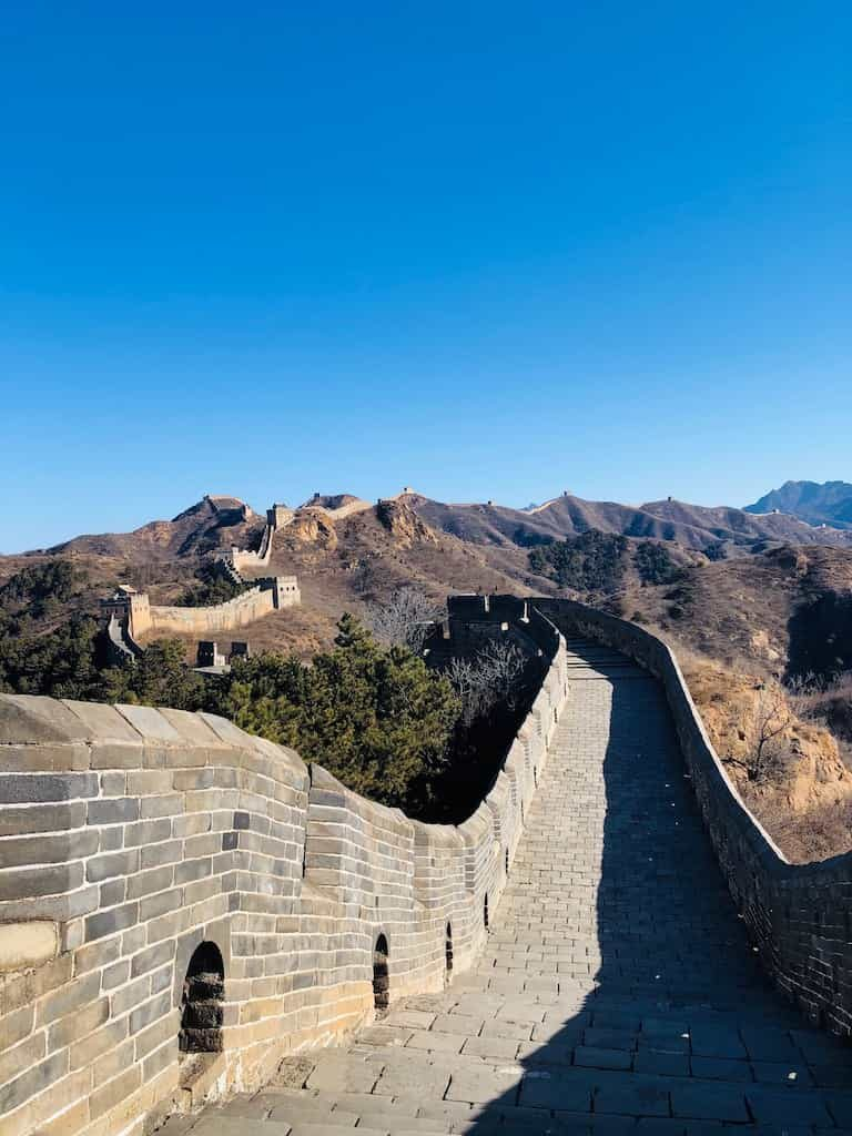 view of the great wall of china to ourselves