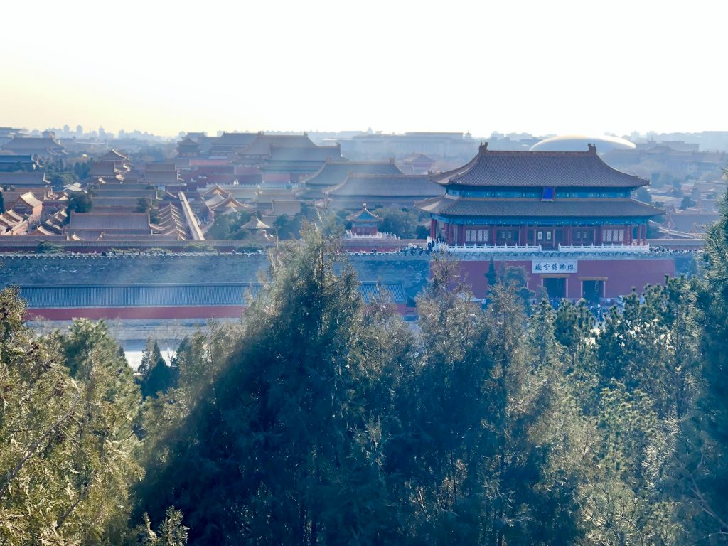 View of Forbidden City from Jinshanling Park 3 days in Beijing www.thedancingcircustraveller.com