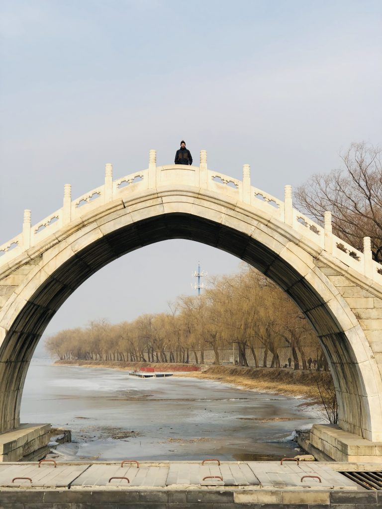 Tall Beautiful bridge in the summer palace 3 days in Beijing www.thedancingcircustraveller.com