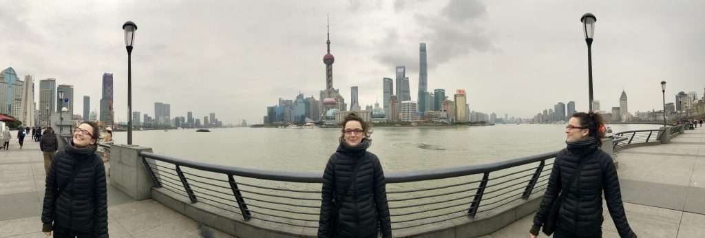 fun panoramic of the bund Shanghai: The City of Cuddly Cats www.thedancingcircustraveller.com
