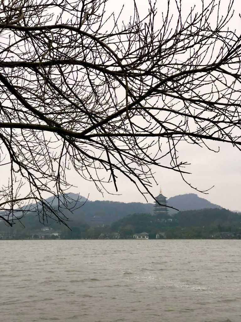 view from long bridge in west lake Visiting friends in Hangzhou www.thedancingcircustraveller.com