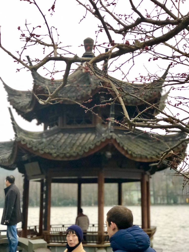 Long Bridge pavillion Visiting friends in Hangzhou www.thedancingcircustraveller.com