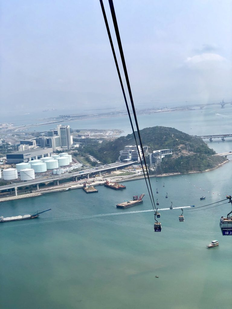 View of Tung Chung bay from the Ngong Ping Cable car. Lantau Island: The Lung of Hong Kong  www.thedancingcircustraveller.com