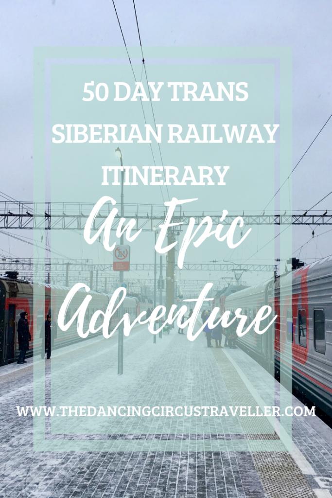 Trans Siberian Railway Itinerary